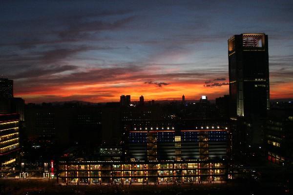 台北の夕空