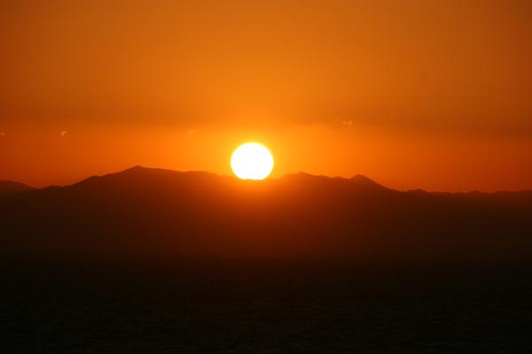 セントレアからの夕日