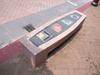 鶯歌にて 陶製のベンチ